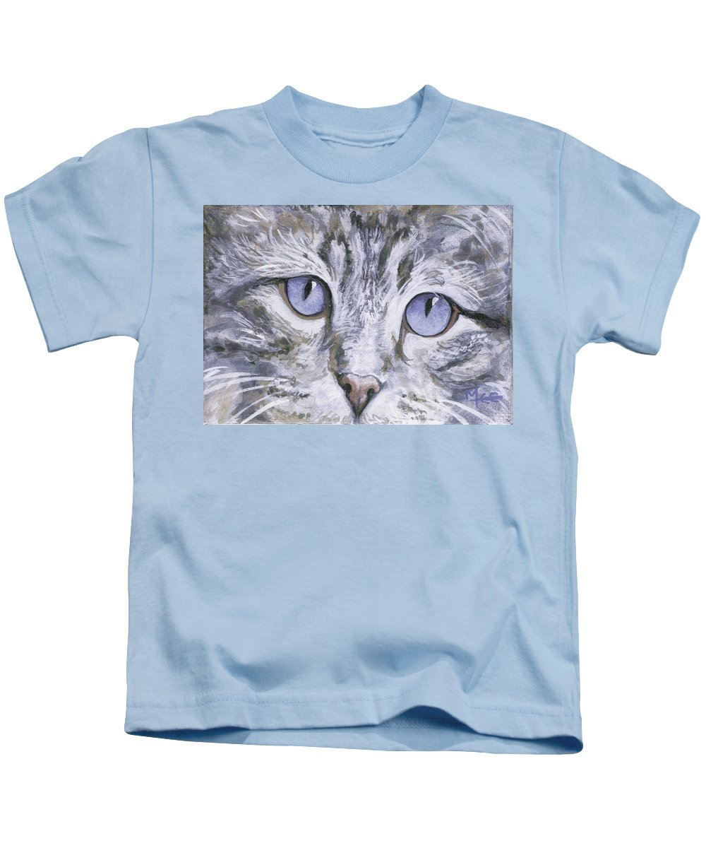 Charity Kids T-Shirt featuring the painting Bisous by Mary-Lee Sanders