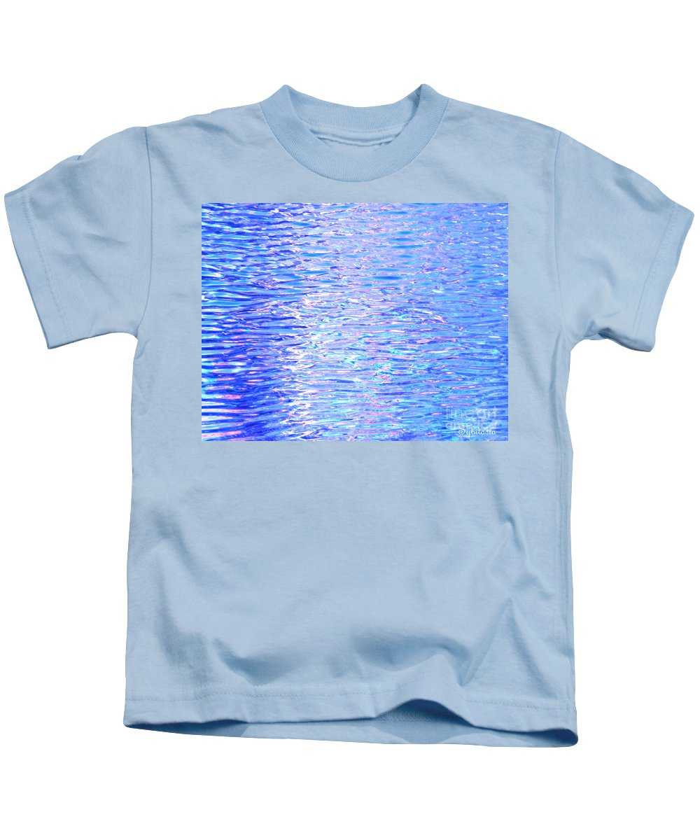 Water Kids T-Shirt featuring the photograph Blissful Blue Ocean by Sybil Staples