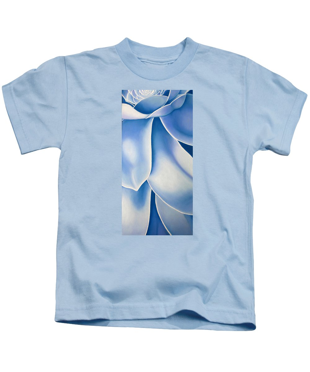 Flowers Kids T-Shirt featuring the drawing Blue Flower by Joshua Morton