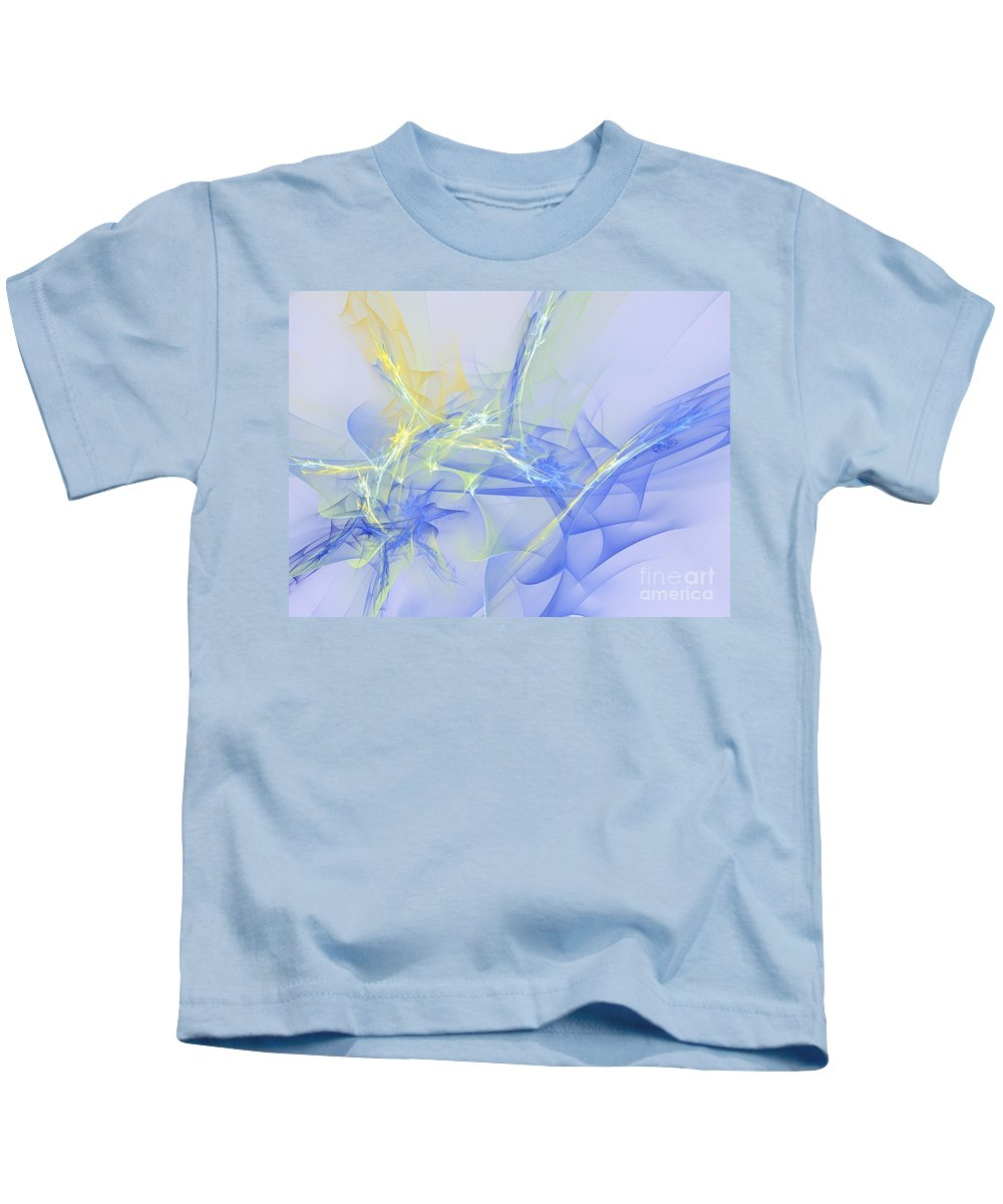 Apophysis Kids T-Shirt featuring the digital art Blue For You by Deborah Benoit