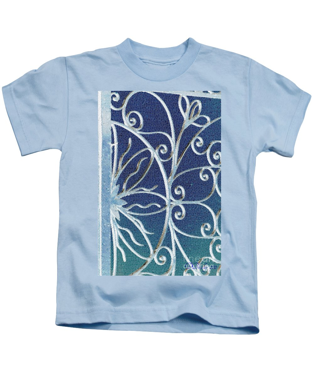 Mosaic Kids T-Shirt featuring the photograph Blue Gate Mosaic by Donna Bentley