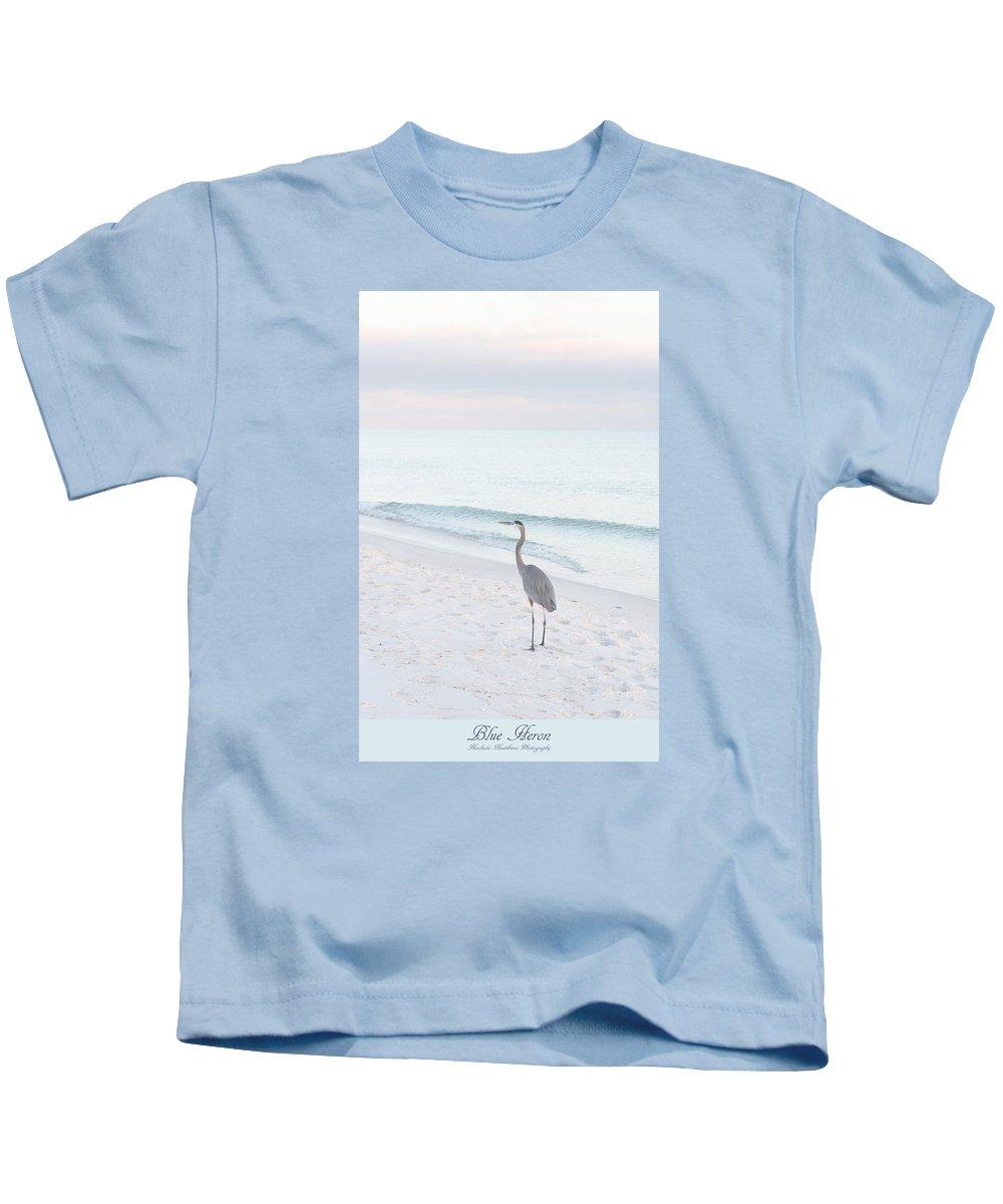 Blue Heron Kids T-Shirt featuring the photograph Blue Heron by Mechala Matthews