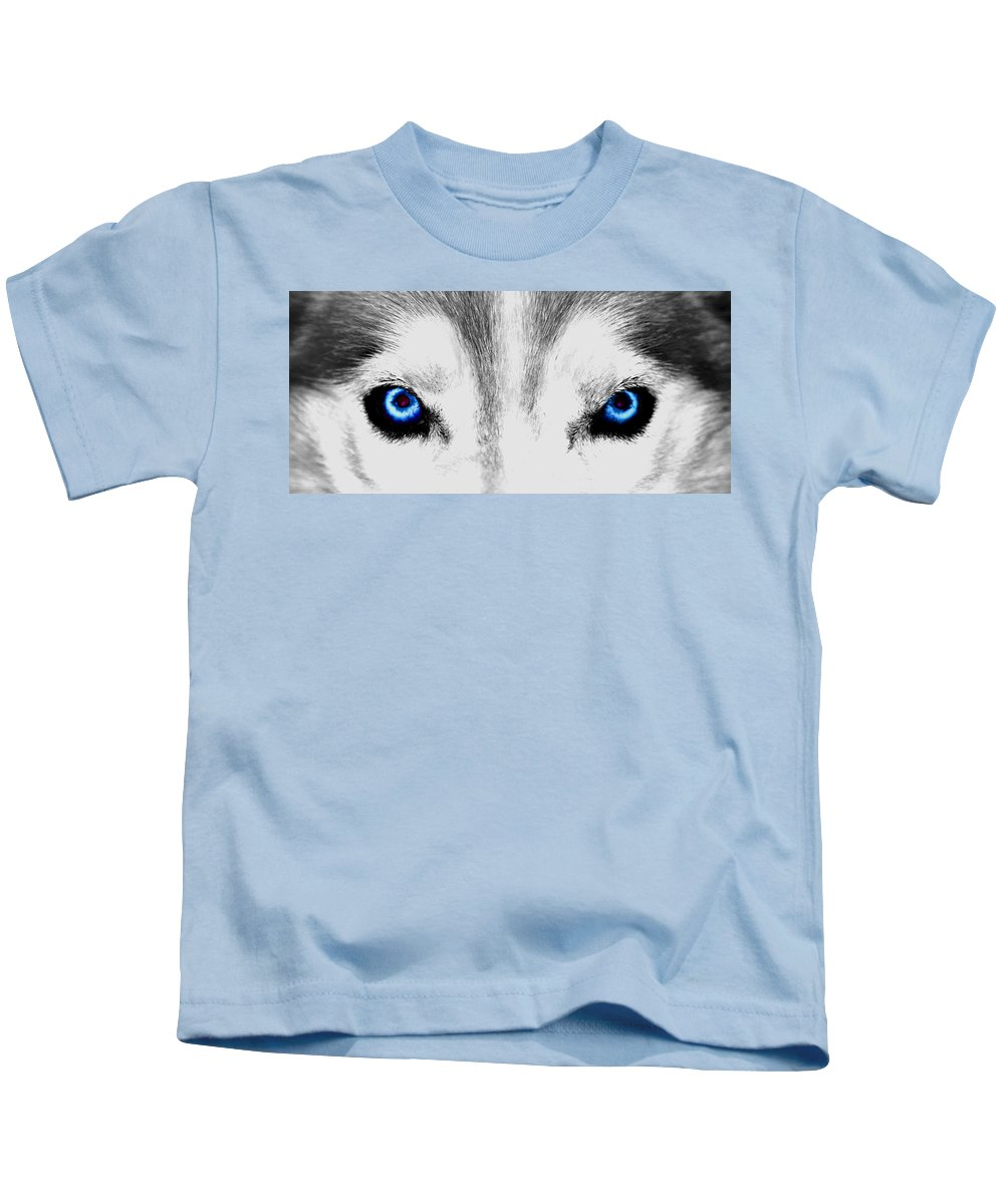 Eye Kids T-Shirt featuring the photograph Blue Ice by Shelley Dennis