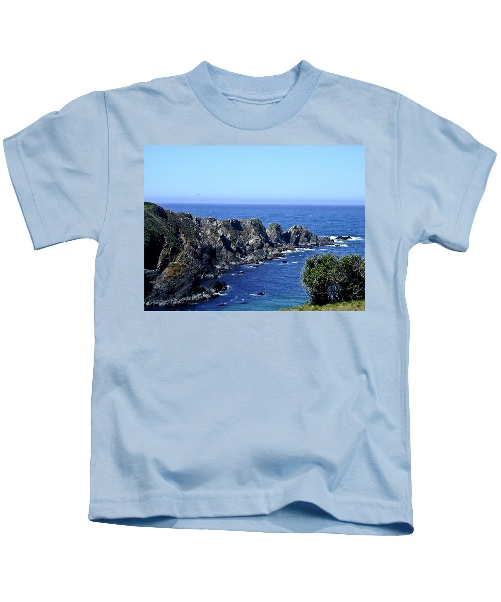 Blue Kids T-Shirt featuring the photograph Blue Pacific by Douglas Barnett