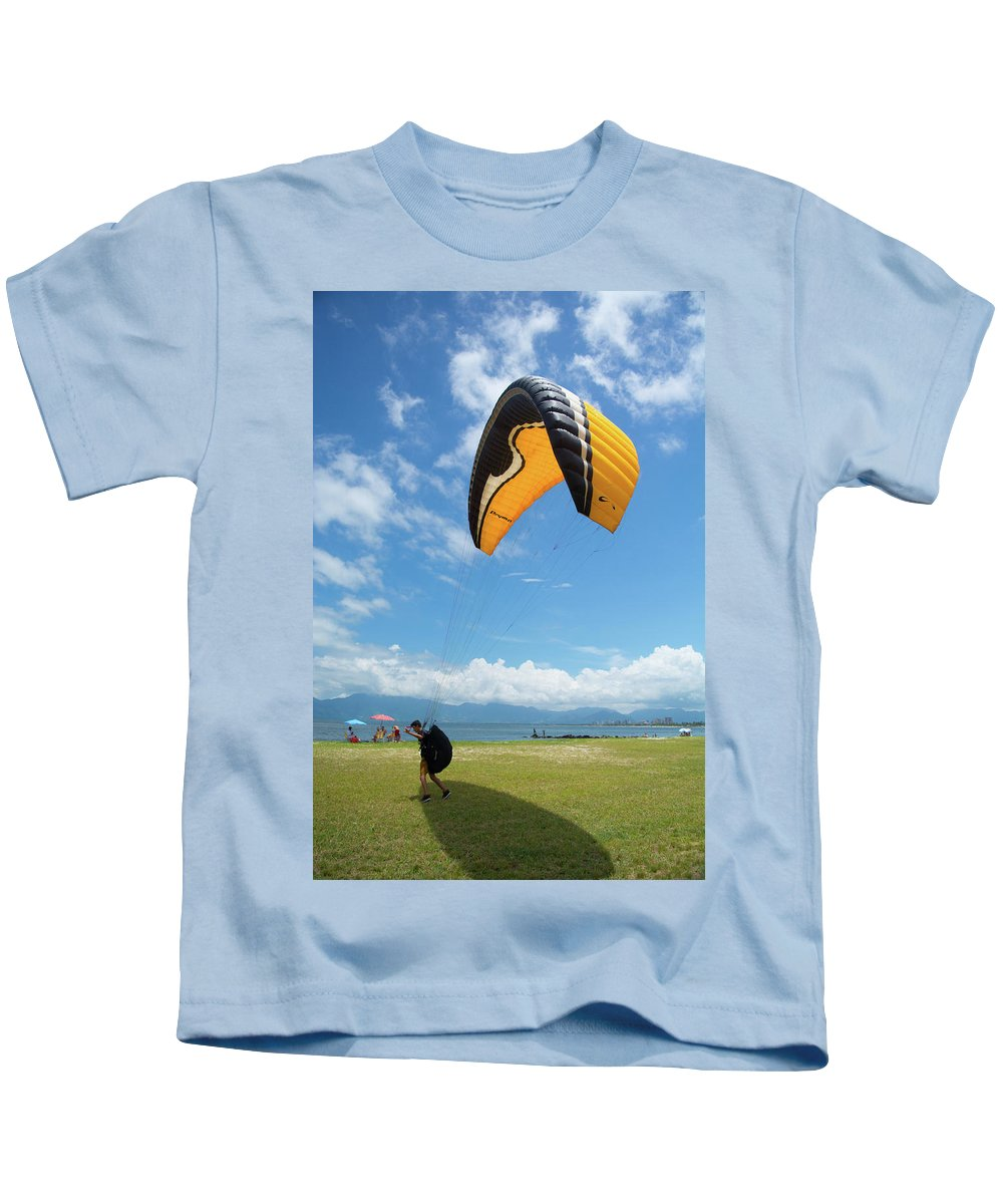 Kids T-Shirt featuring the photograph Blue Sky by Cristhian Nogueira
