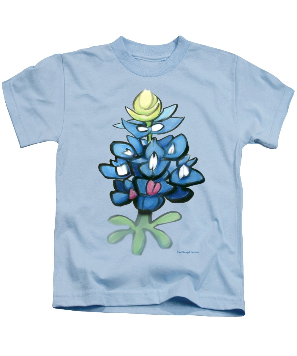 Bluebonnet Kids T-Shirt featuring the digital art Bluebonnet by Kevin Middleton