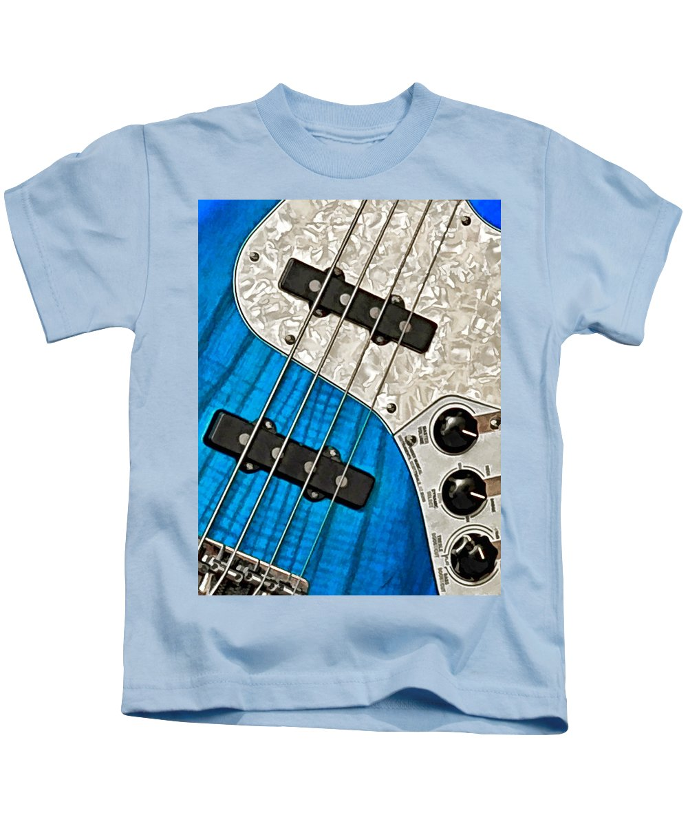 Guitar Kids T-Shirt featuring the photograph Blues Bass by William Jobes