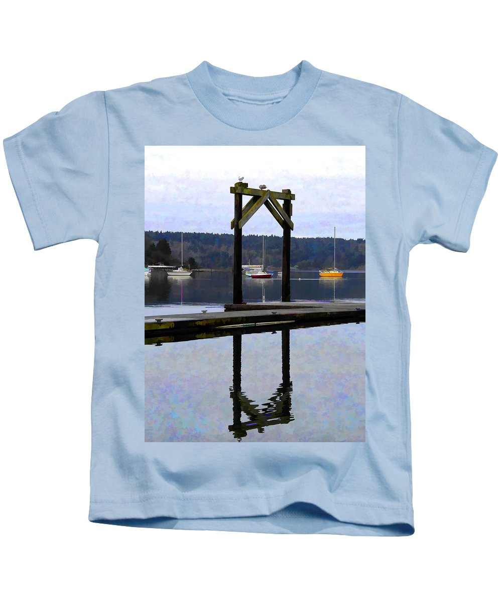 Boats Kids T-Shirt featuring the photograph Boat Series #4 by Josh Manwaring
