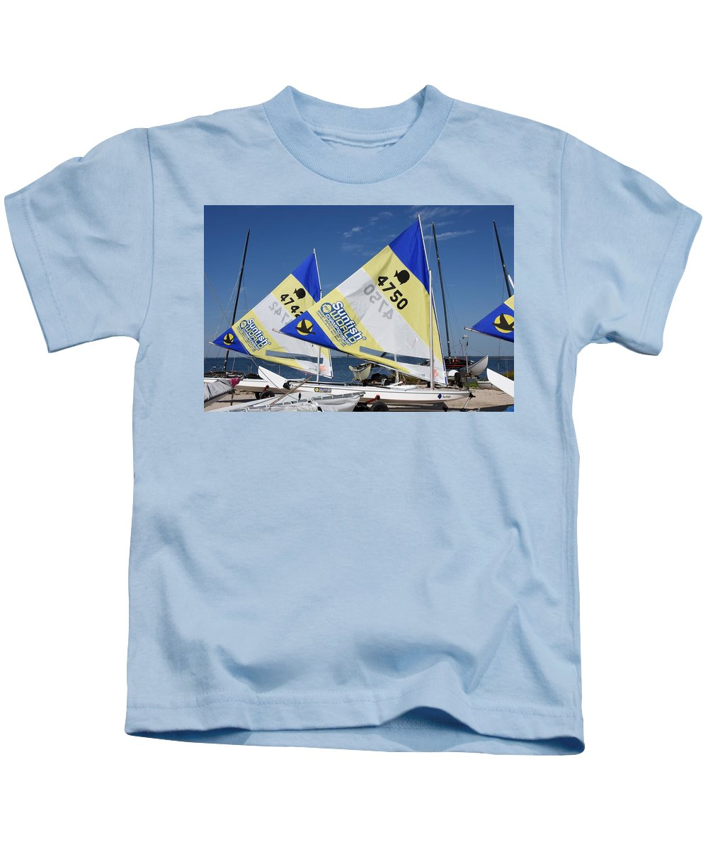 Boats Kids T-Shirt featuring the photograph Boats 168 by Joyce StJames