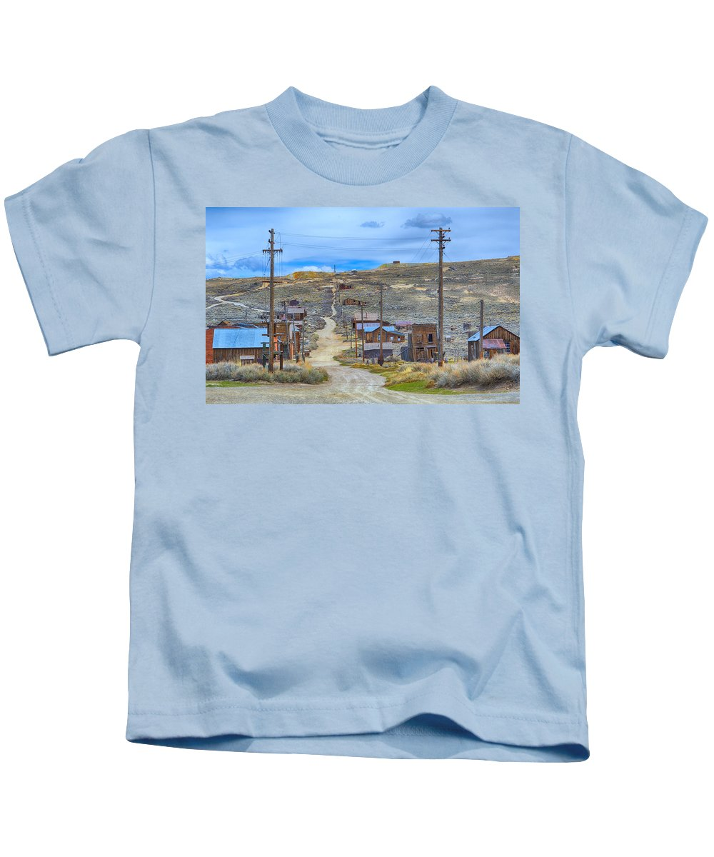 Scenic Kids T-Shirt featuring the photograph Bodie Ghost Town by AJ Schibig