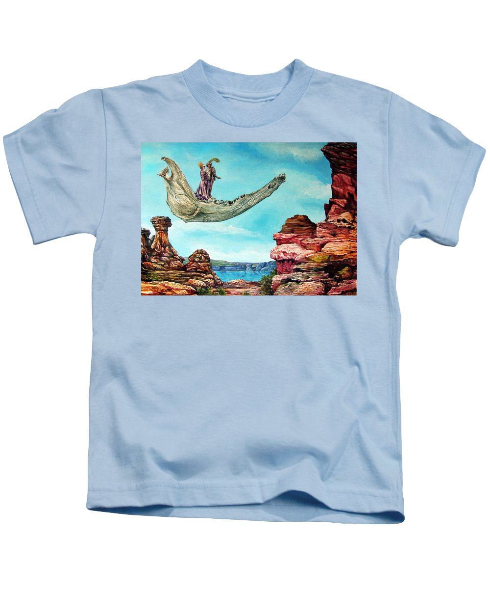 Painting Kids T-Shirt featuring the painting Bogomils Journey by Otto Rapp
