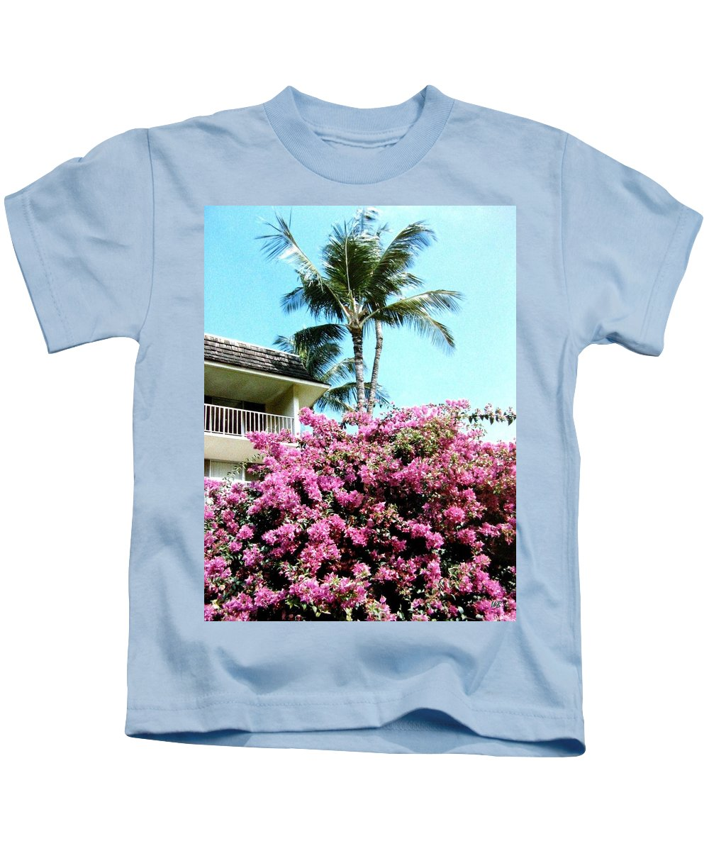 1986 Kids T-Shirt featuring the photograph Bougainvillea by Will Borden