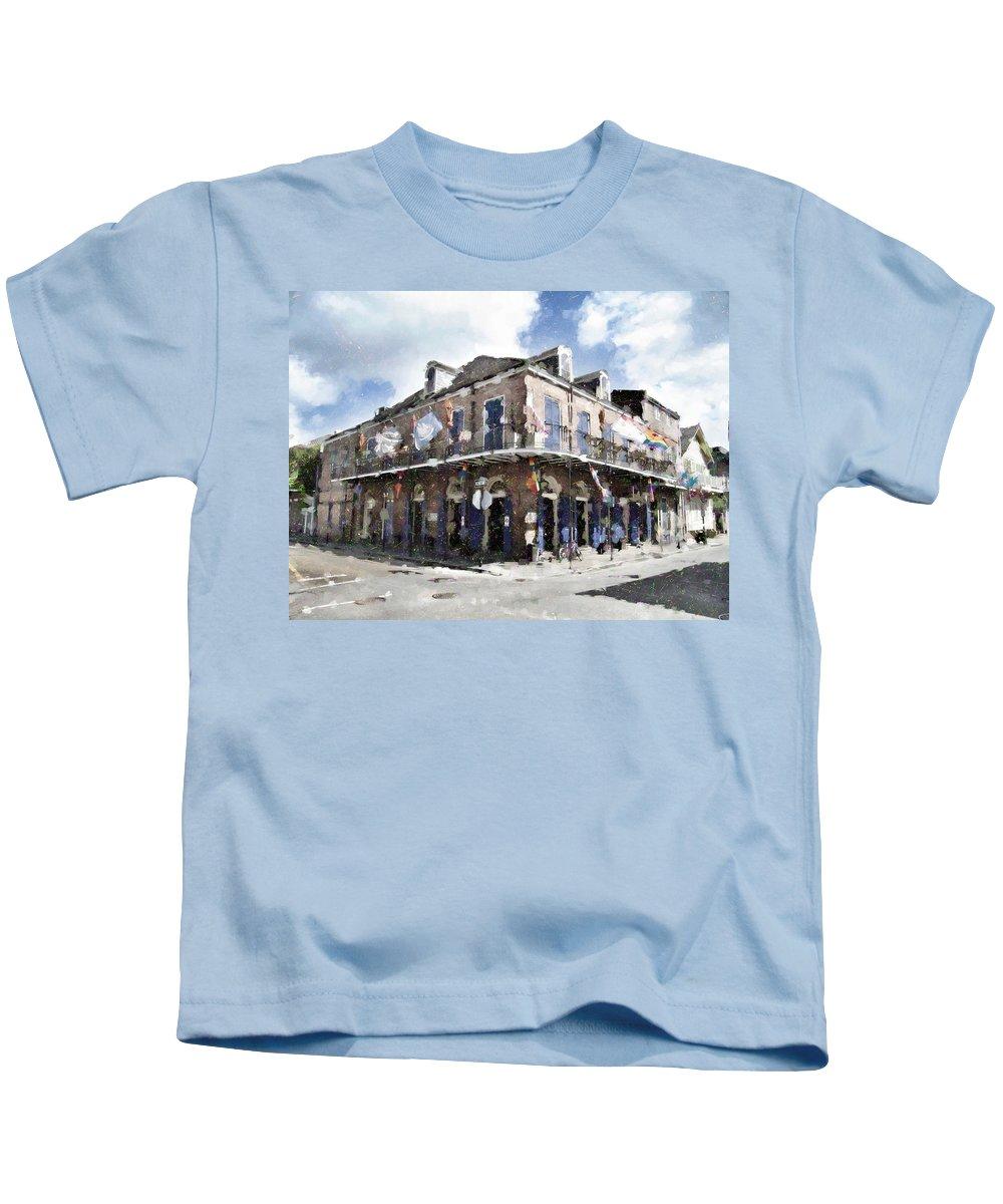 Bourbon Street Kids T-Shirt featuring the photograph Bourbon Pub Pride by Scott Crump