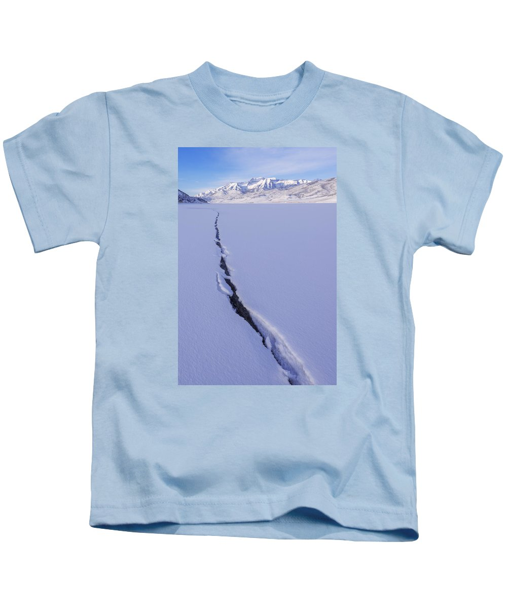Breaking Ice Kids T-Shirt featuring the photograph Breaking Ice by Chad Dutson
