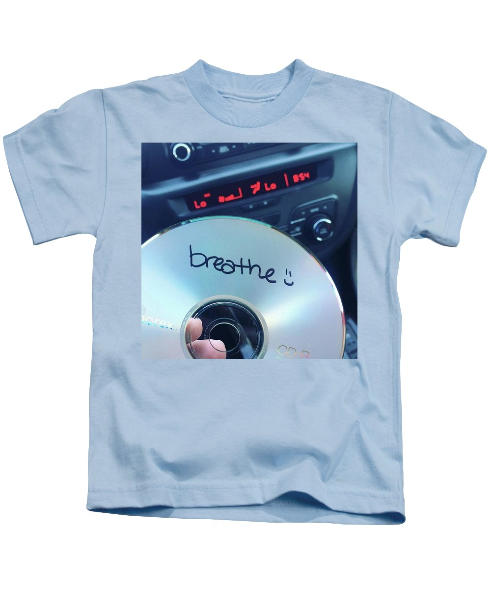 Breathe Kids T-Shirt featuring the photograph Breathe Mix Cd by Claire Kenney