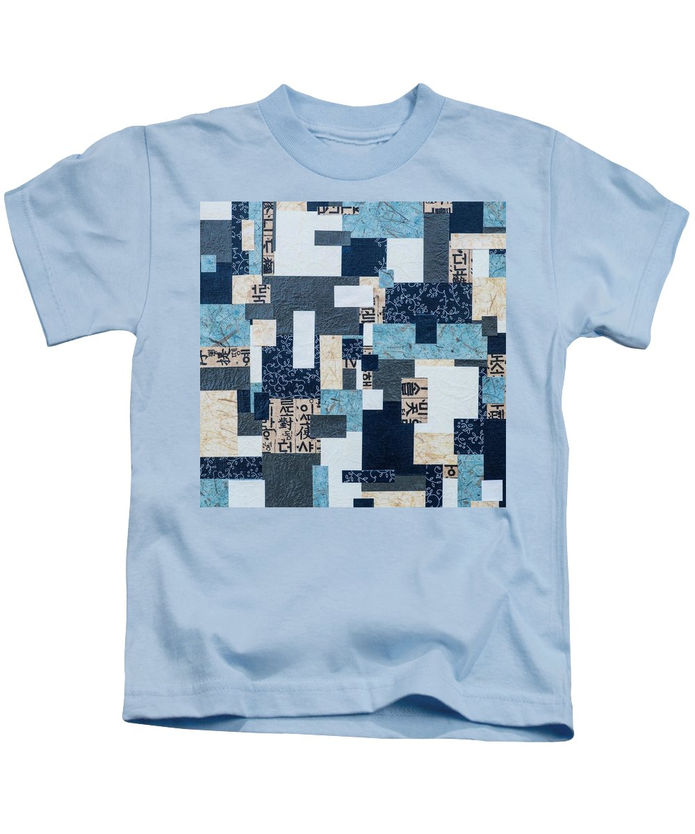 Hanji Kids T-Shirt featuring the mixed media Bridges by Ashley Nation