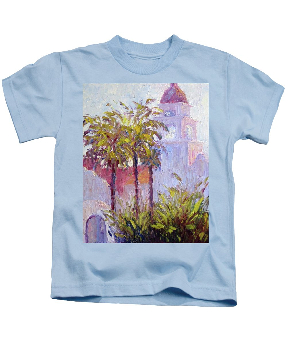 Art Kids T-Shirt featuring the painting Bronson Mansion by Terry Chacon