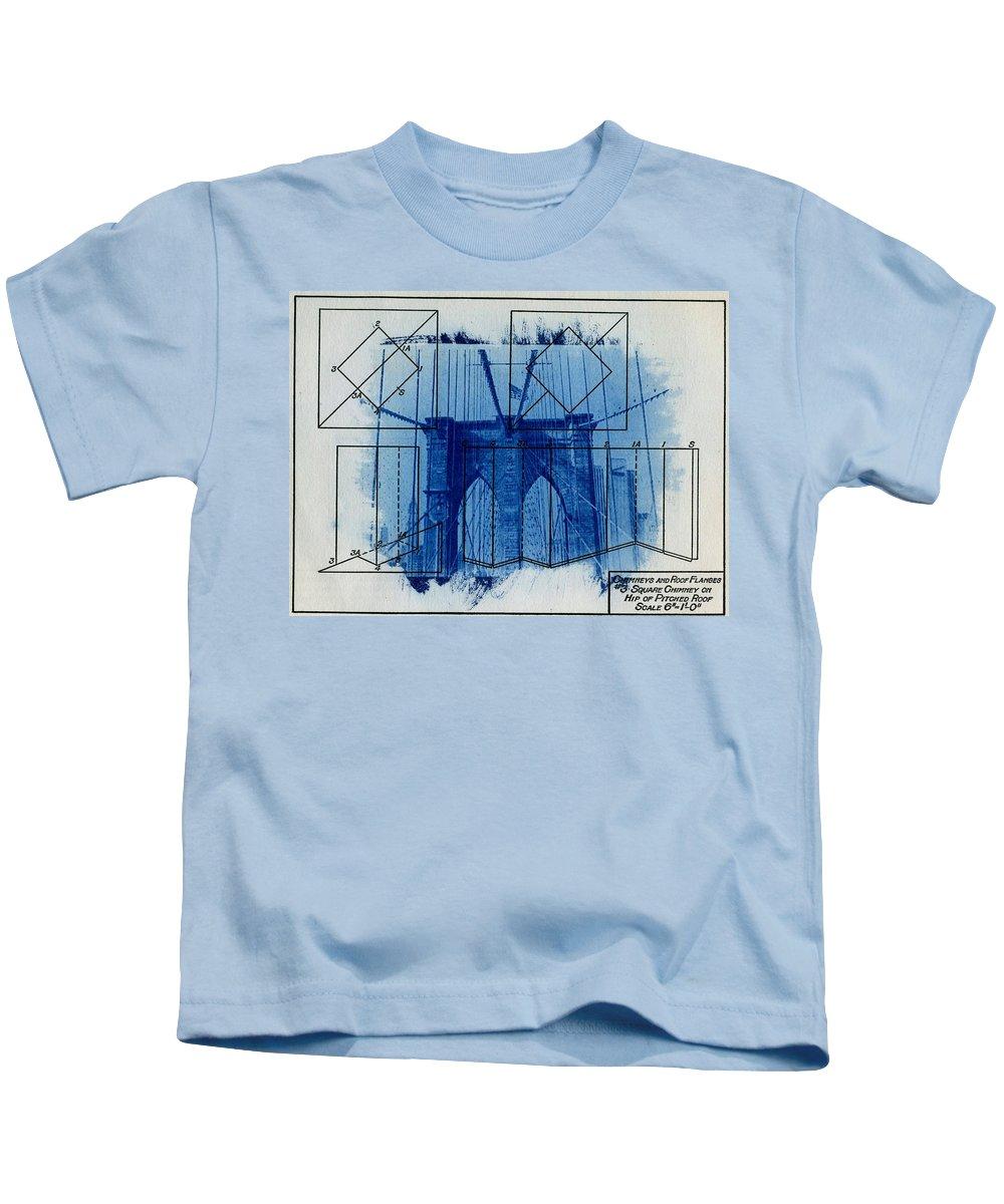 Brooklyn Bridge Kids T-Shirt featuring the photograph Brooklyn Bridge by Jane Linders