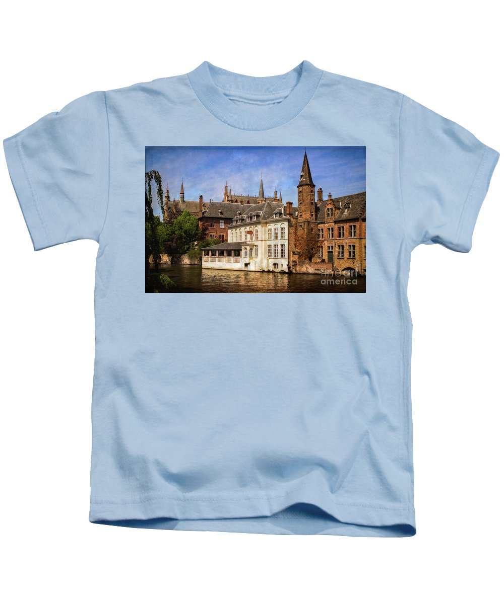 Brugges Kids T-Shirt featuring the photograph Brugges by Doug Sturgess