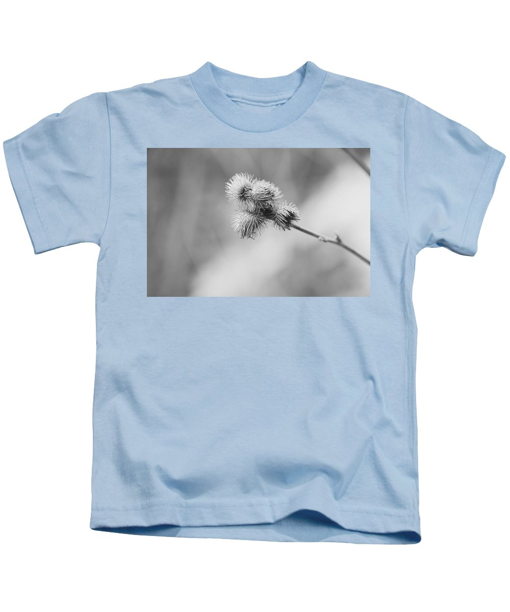 Weeds Kids T-Shirt featuring the photograph Burr 185 by Shelly John