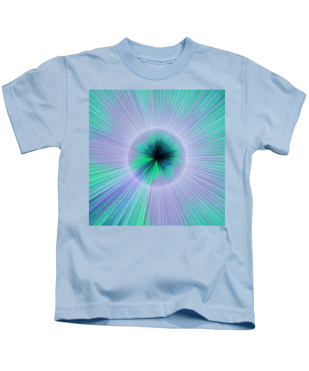 Blue Kids T-Shirt featuring the digital art Burst by Shannon Stancliff