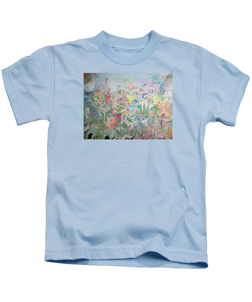Butterfly Kids T-Shirt featuring the painting Butterfly Ballet Reflectance by Judith Desrosiers
