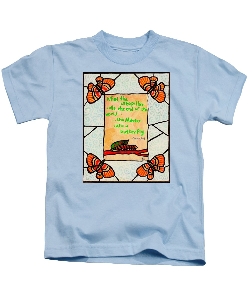 Butterfly Kids T-Shirt featuring the painting Butterflywhispers3 by Jim Harris