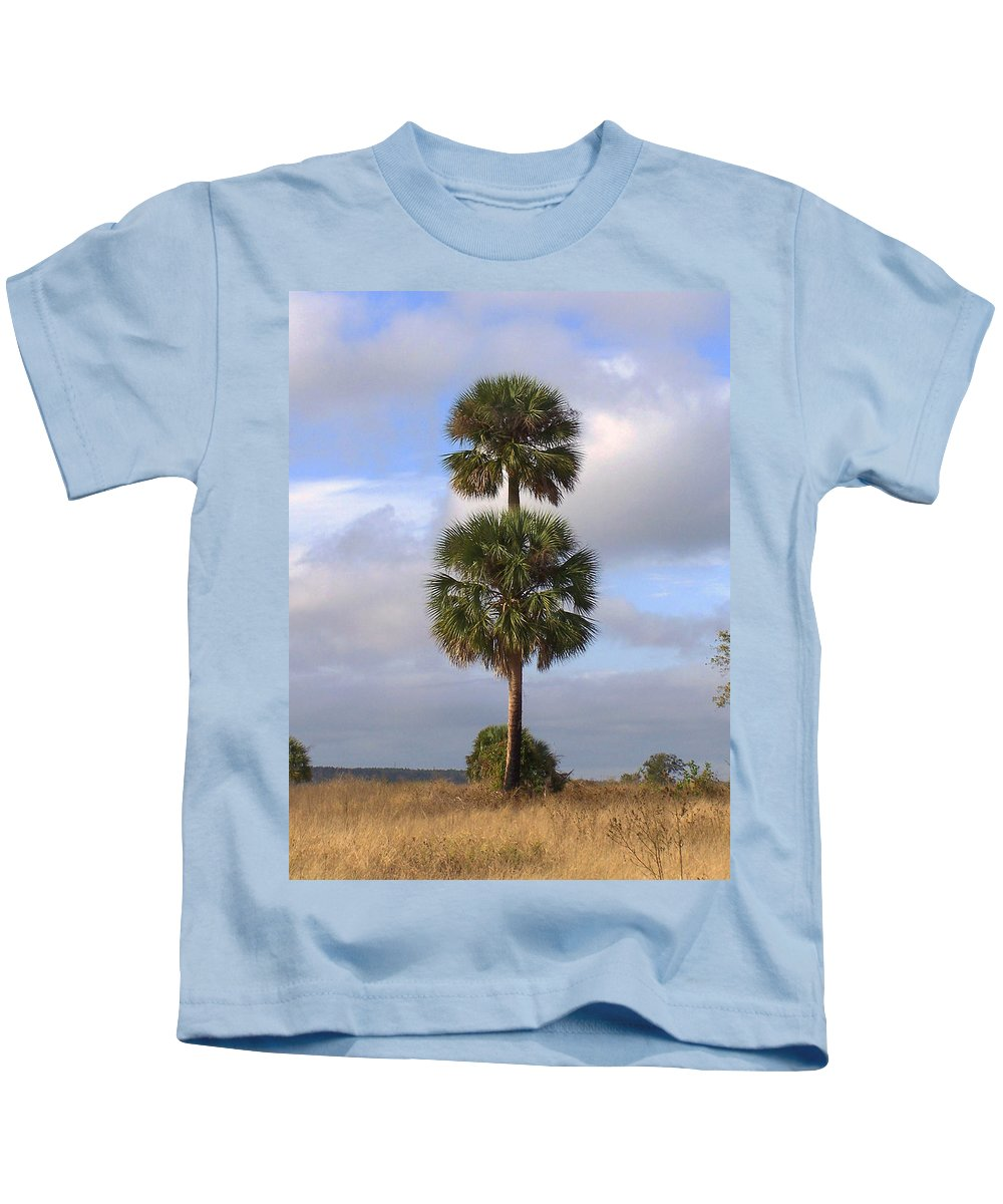 Nature Kids T-Shirt featuring the photograph Cabbage Palms by Peg Urban