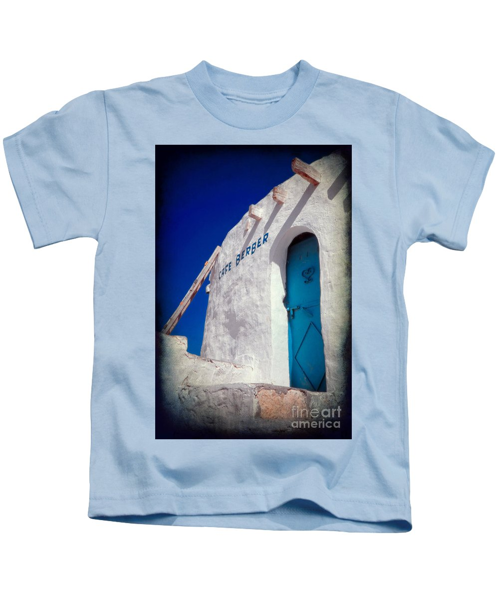 Tunisia Kids T-Shirt featuring the photograph Cafe Berber by Silvia Ganora