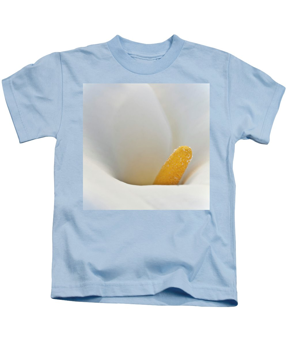 Calla Kids T-Shirt featuring the photograph Calla Details 5 by Heiko Koehrer-Wagner