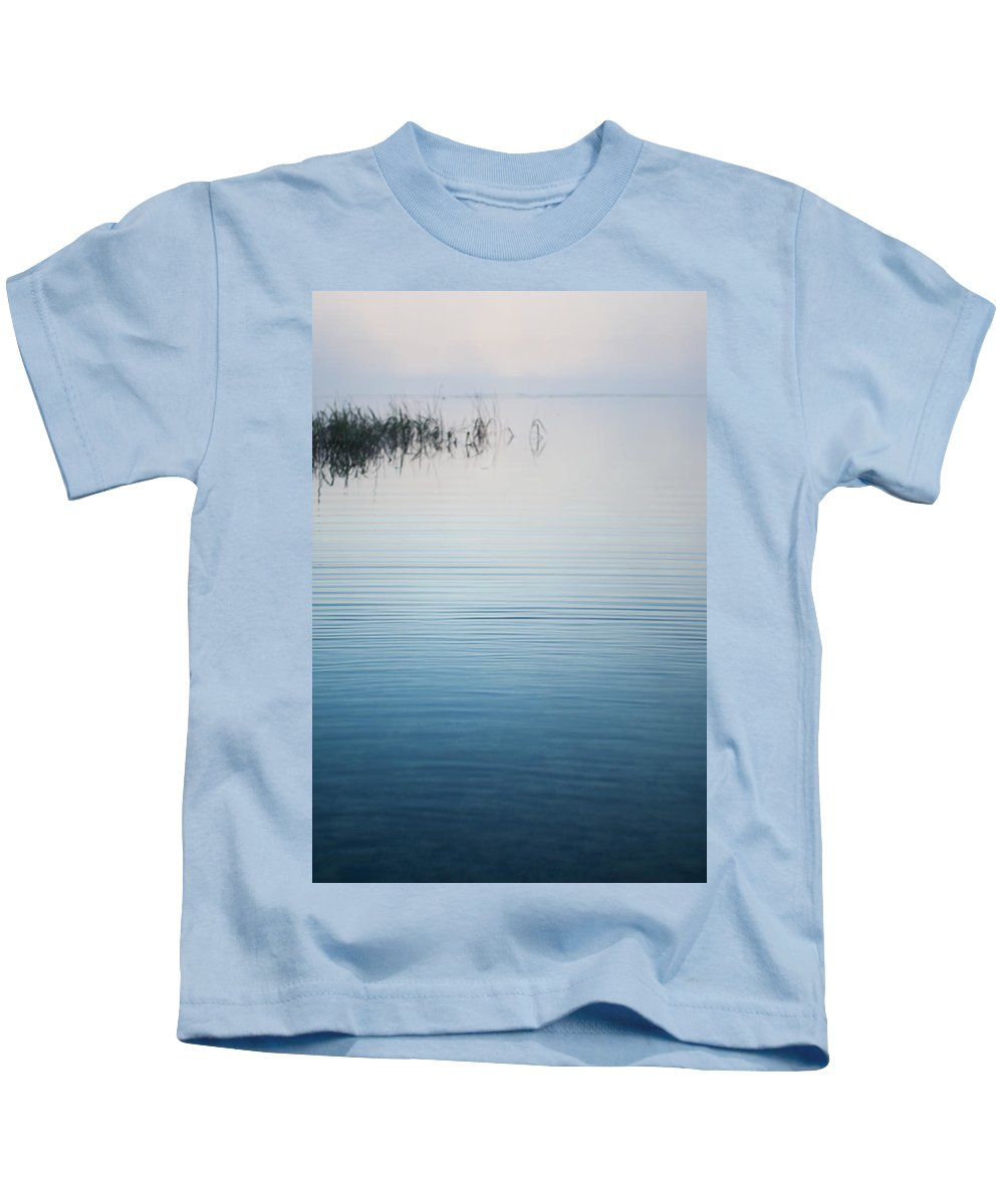 Fog Kids T-Shirt featuring the photograph Calm Ripples On The Lake by Parker Cunningham