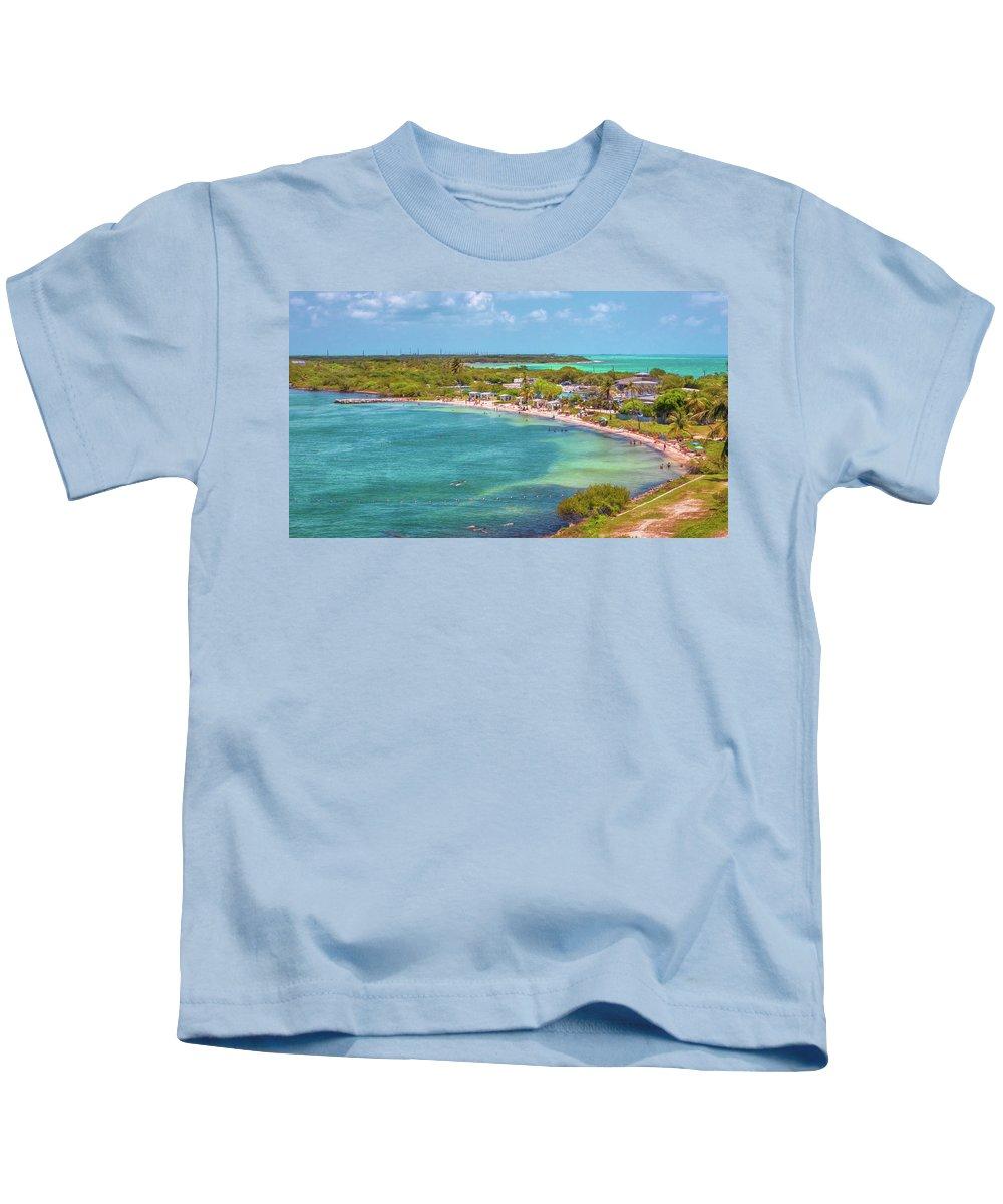 Bahia Kids T-Shirt featuring the photograph Calusa Beach by John M Bailey