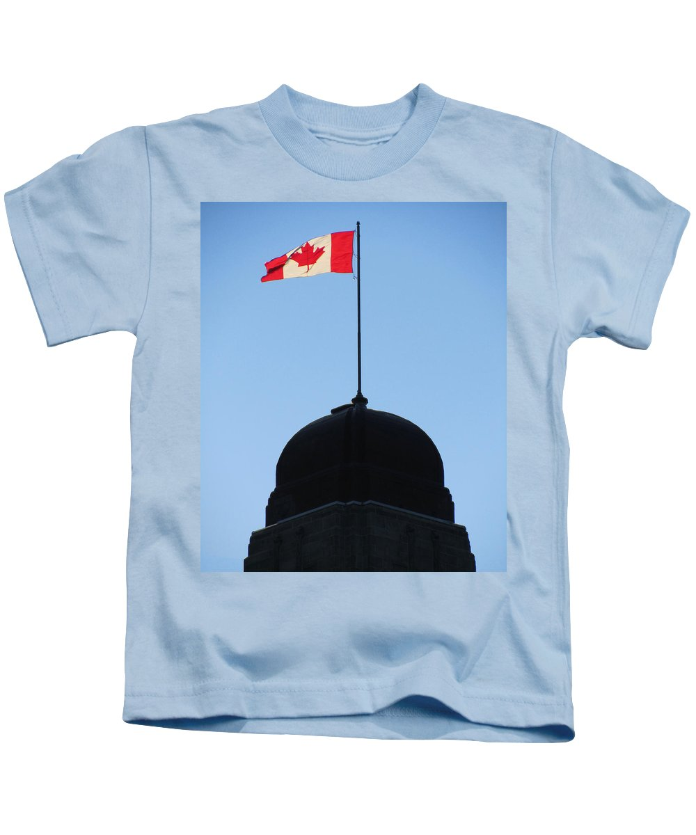 Canadian Flag Kids T-Shirt featuring the photograph Canadian Flag 2 by Mark Sellers