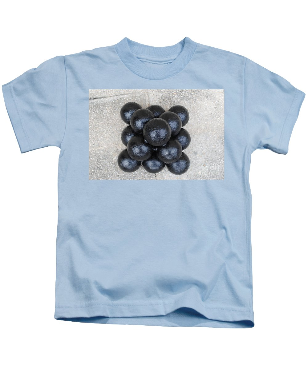 Cannon Kids T-Shirt featuring the photograph Cannon Balls by Jost Houk