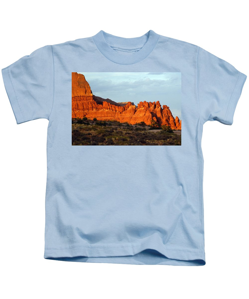 Utah Kids T-Shirt featuring the photograph Canyonlands At Sunset by Marty Koch