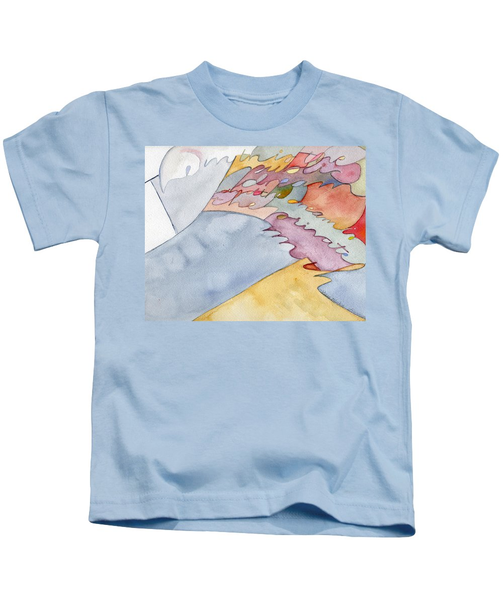 Calligraphy Kids T-Shirt featuring the painting Capture by Sid Freeman