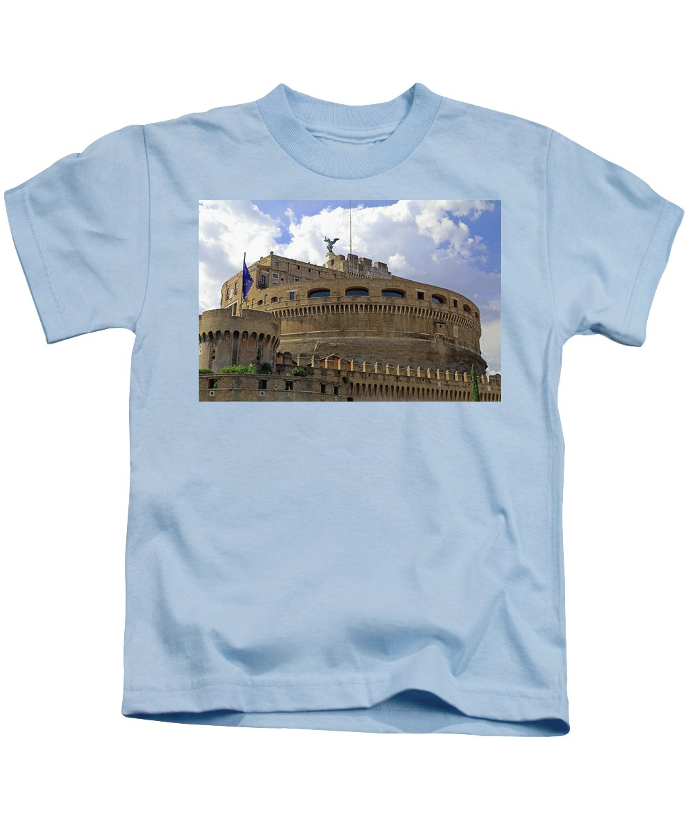 Rome Kids T-Shirt featuring the photograph Castel Sant'angelo by Tony Murtagh
