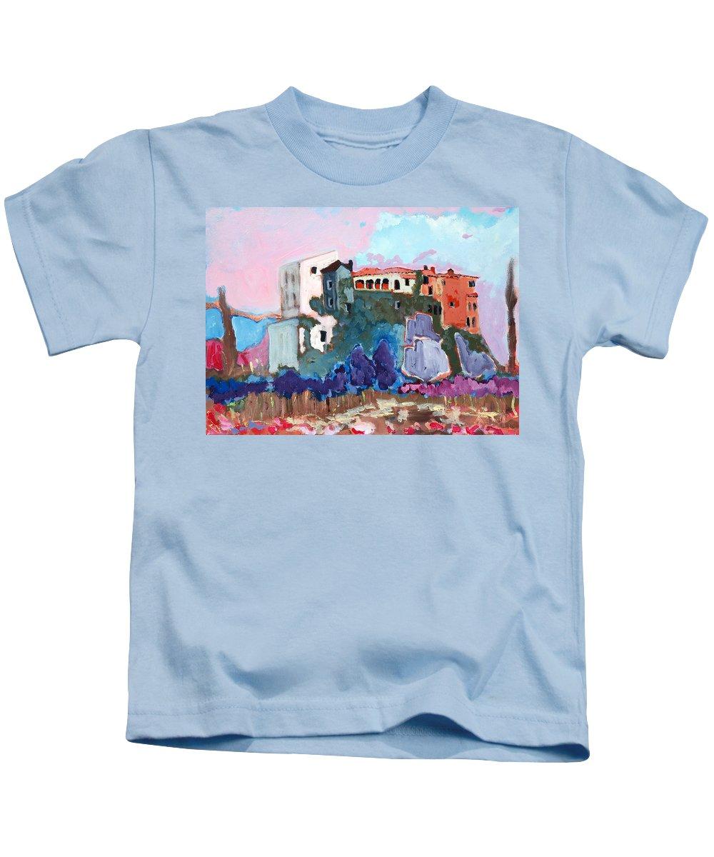 Castle Kids T-Shirt featuring the painting Castello by Kurt Hausmann