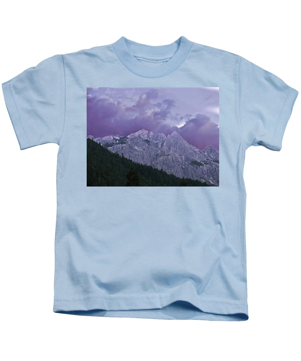 Landscape Kids T-Shirt featuring the photograph Castle Craggs by Karen W Meyer