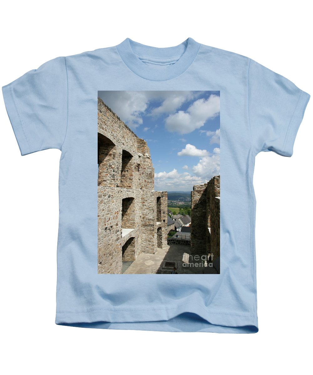 Castle Kids T-Shirt featuring the photograph Castle Greifenstein V by Christiane Schulze Art And Photography
