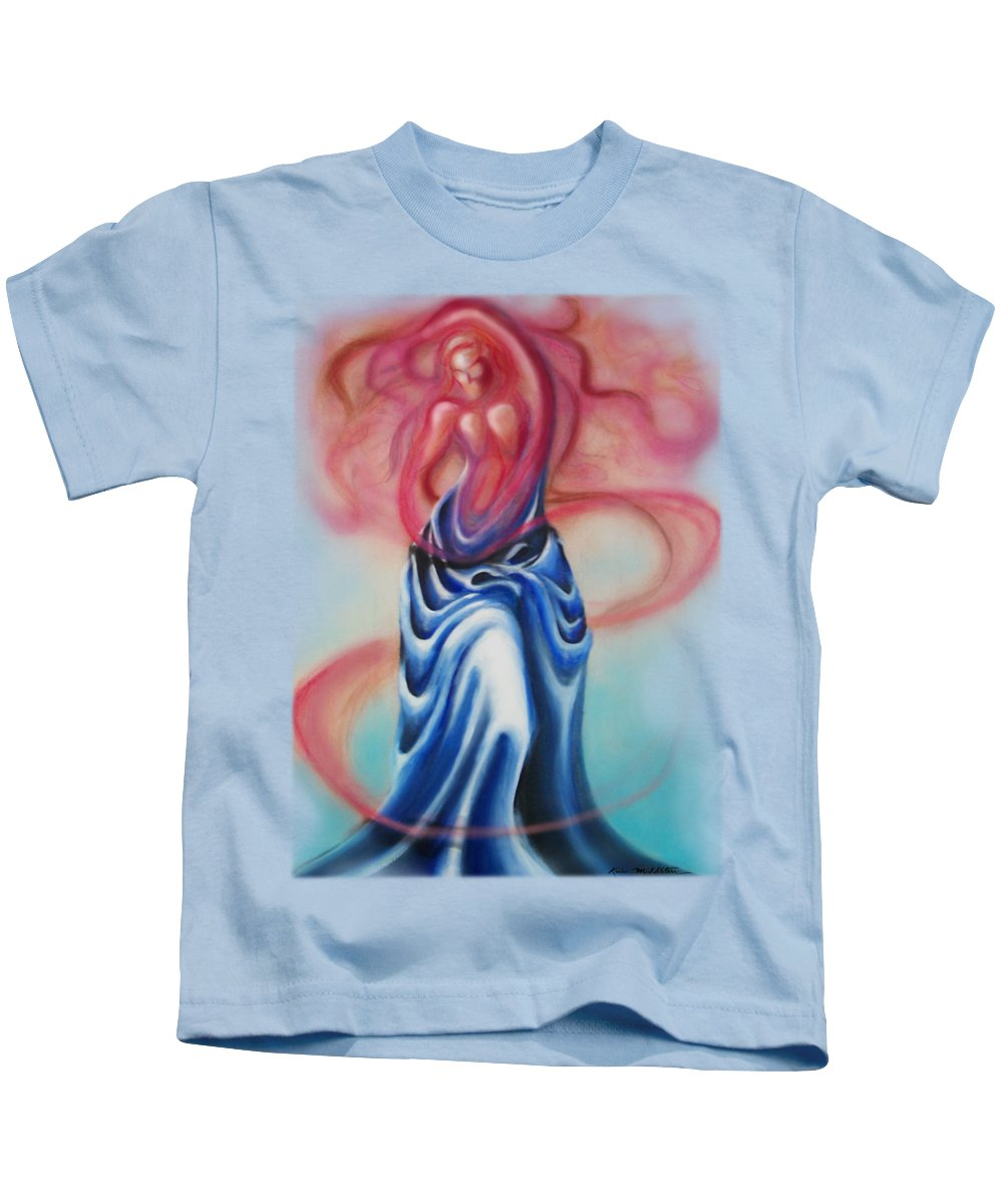 Female Kids T-Shirt featuring the painting Change by Kevin Middleton