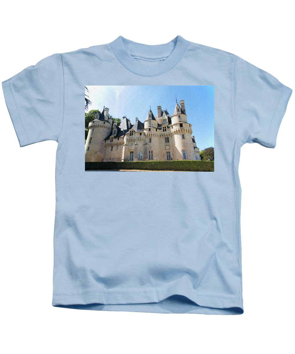 Chateau D'usse Kids T-Shirt featuring the photograph Chateau D'usse, Loire, France by Curt Rush