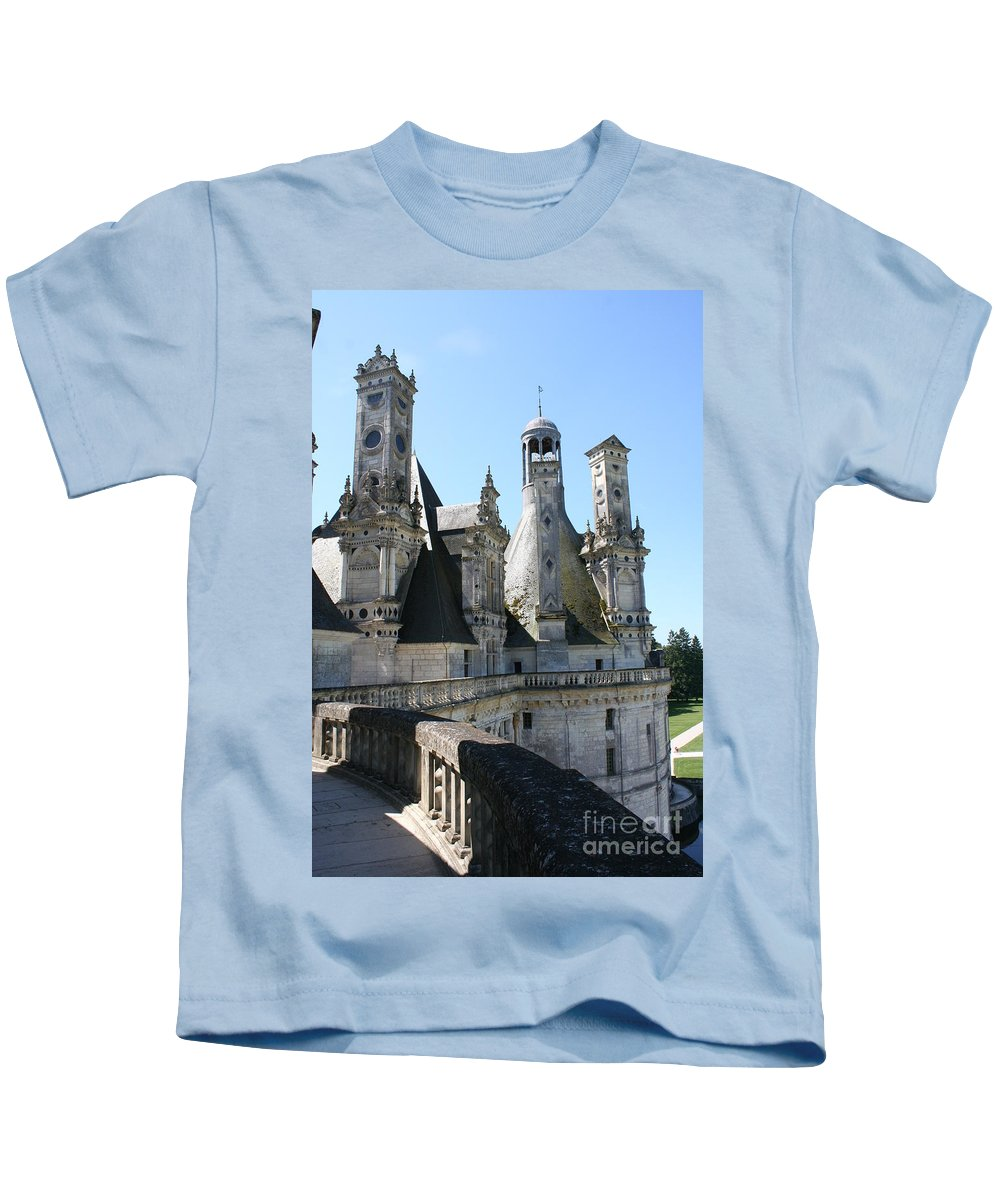 Chimney Kids T-Shirt featuring the photograph Chimney From Chambord - Loire by Christiane Schulze Art And Photography