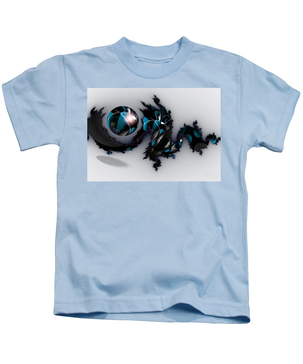 China Dragon Rythm Float Dance Kids T-Shirt featuring the digital art China Dragon by Veronica Jackson