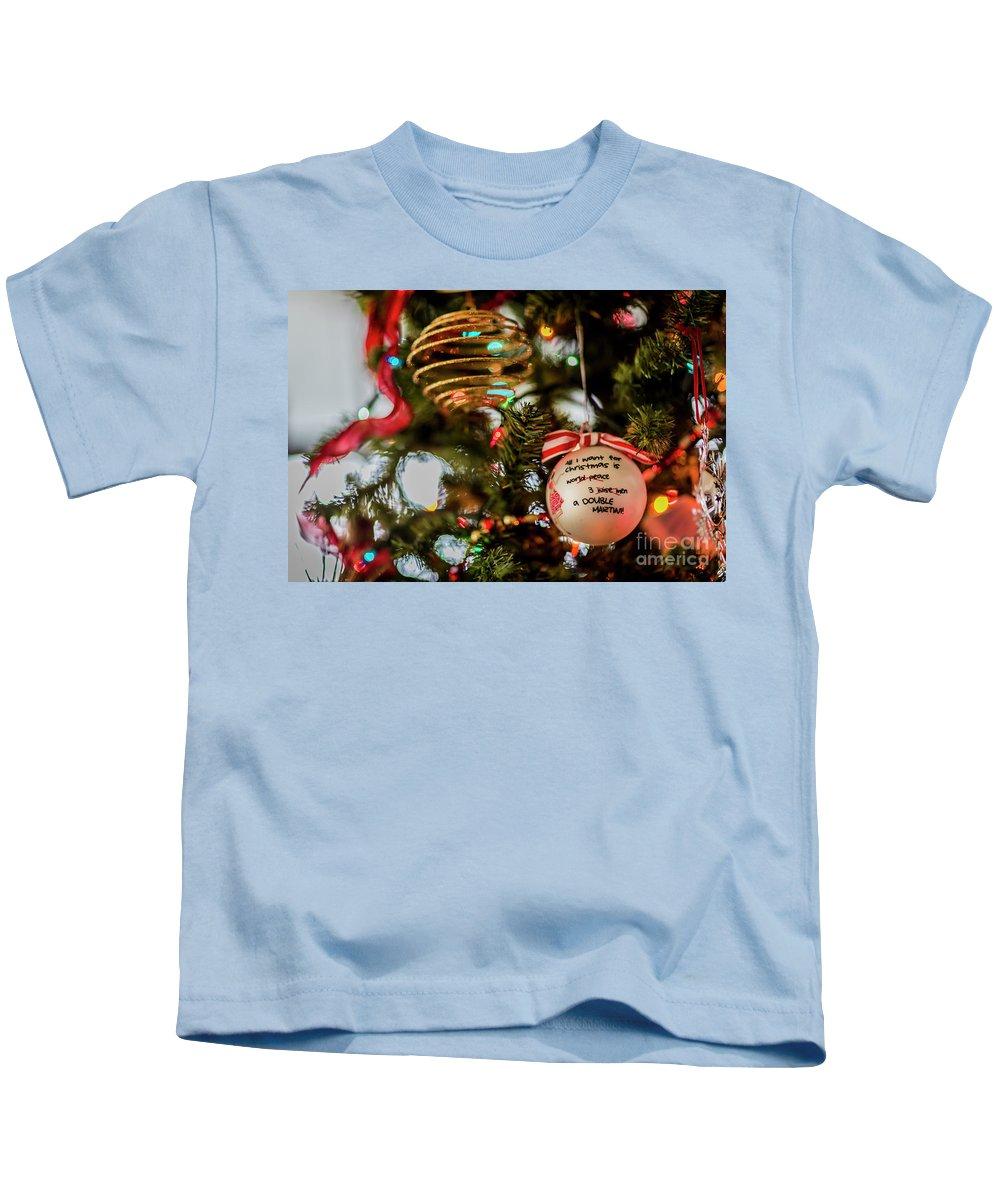 Christmas Balls Kids T-Shirt featuring the photograph Christmas Martini 4389 by Doug Berry