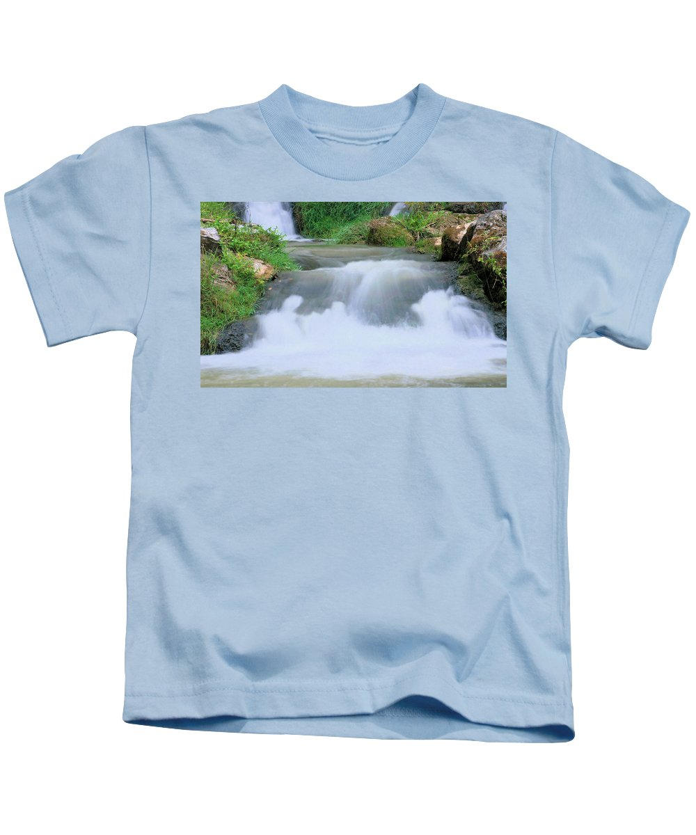 Flow Kids T-Shirt featuring the photograph Churning by Kristin Elmquist