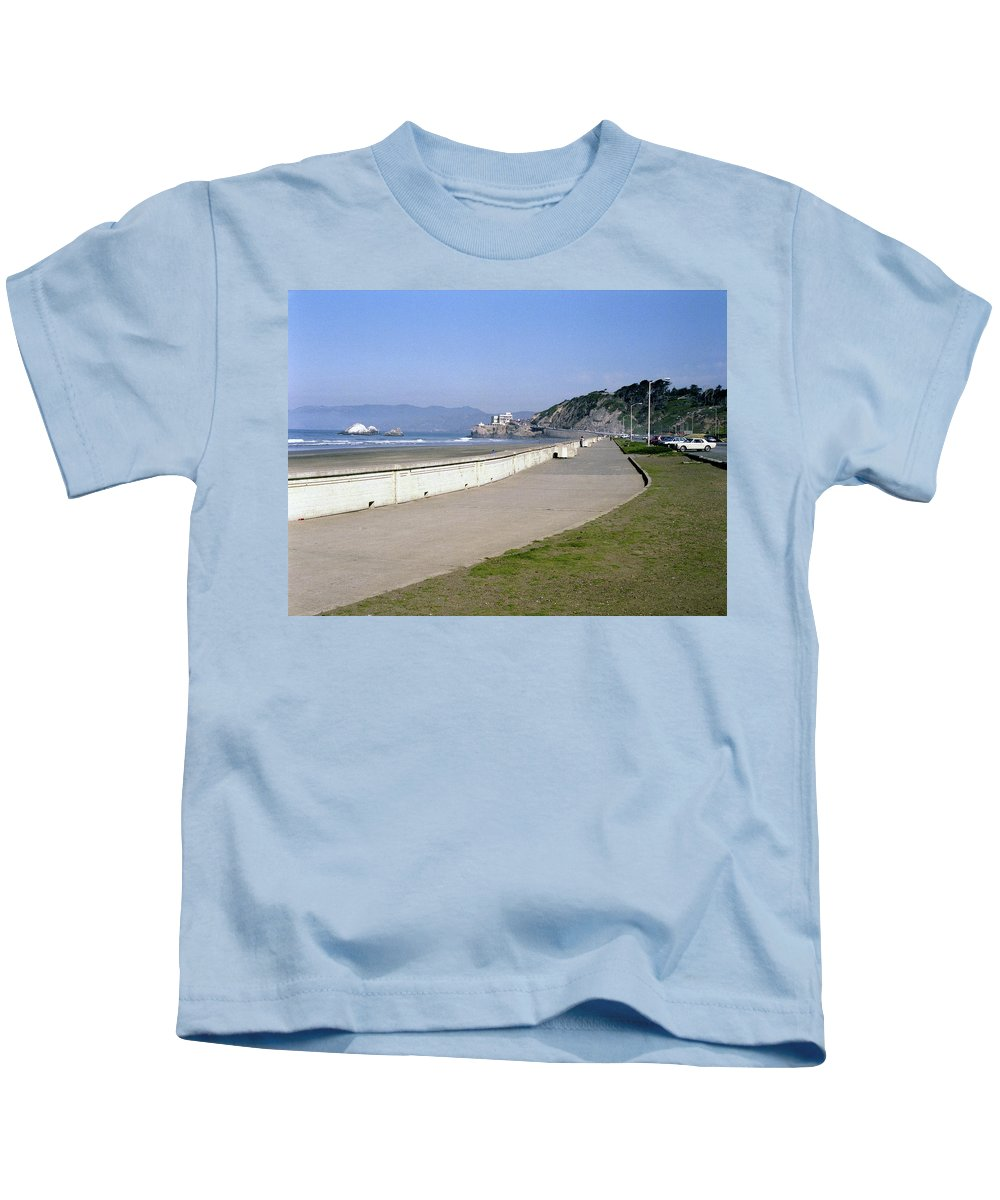 Cliff House Kids T-Shirt featuring the photograph Cliff House San Francisco by Lee Santa