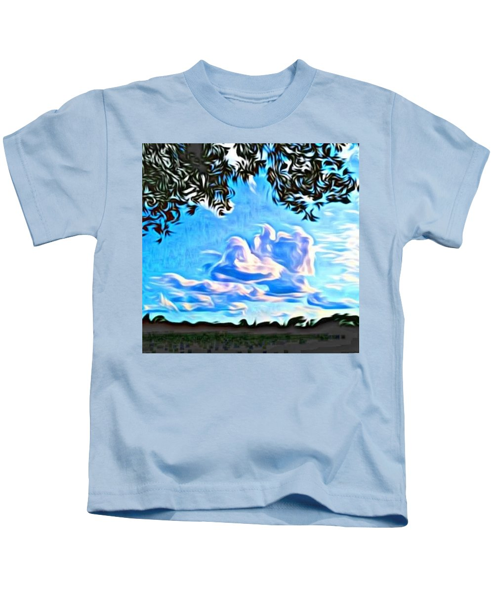 Landscape Kids T-Shirt featuring the photograph Cloud Creative by Bradley Lyle