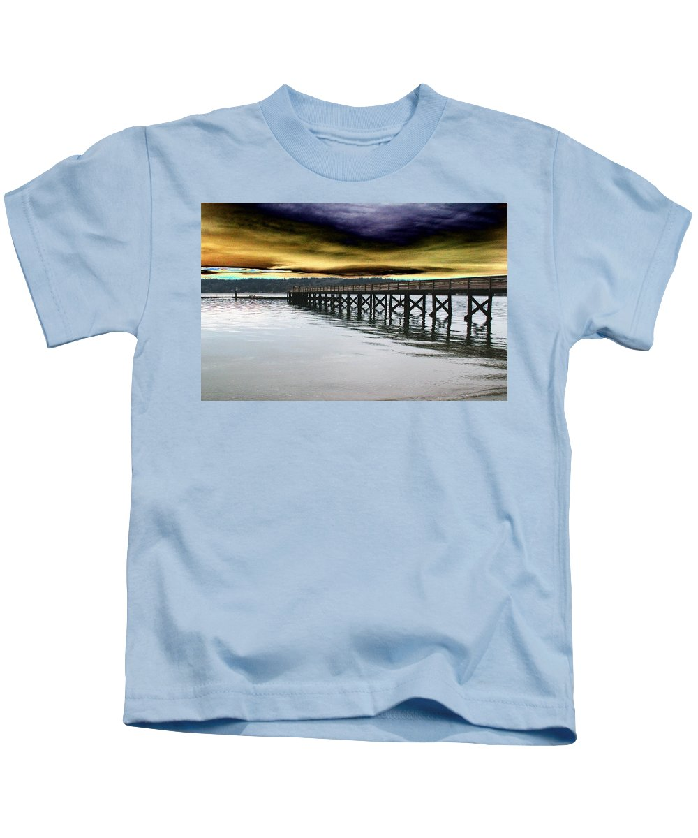 Clouds Kids T-Shirt featuring the photograph Clouds Over Illahee by Tim Allen