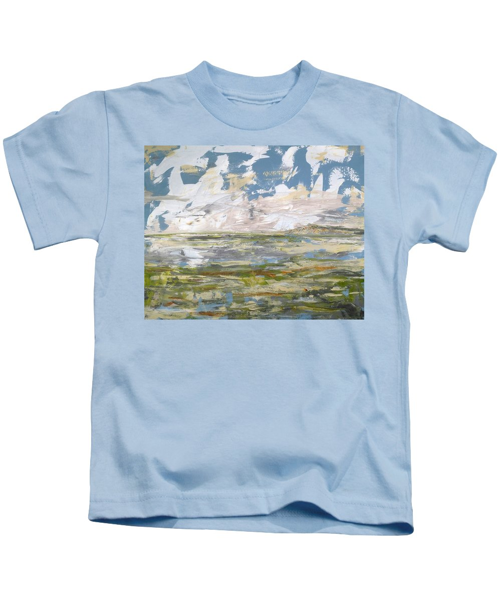 Coast Kids T-Shirt featuring the painting Coast by Lesley Anne Cornish